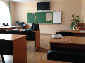 One of the classrooms at the hostel