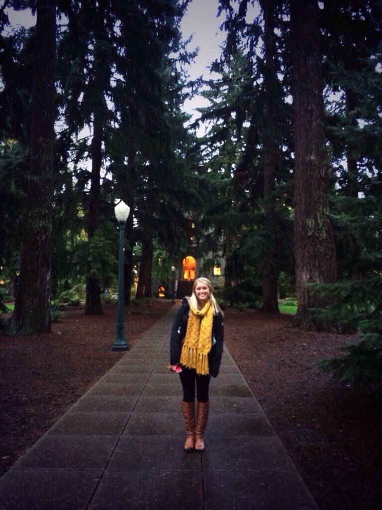 College visit at the University of Oregon